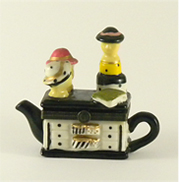 teapot ladies in ceramic,box