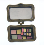 cute black ceramic eyeshadow box