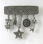 tribal style pendant with dangles