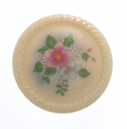vintage button with flowers