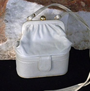 cream colored cross body mini bag from Naturalizer
