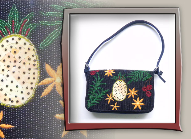 tropical bag with pineapple