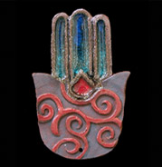 hamsa with spiral