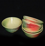 cereal bowls, holiday colors