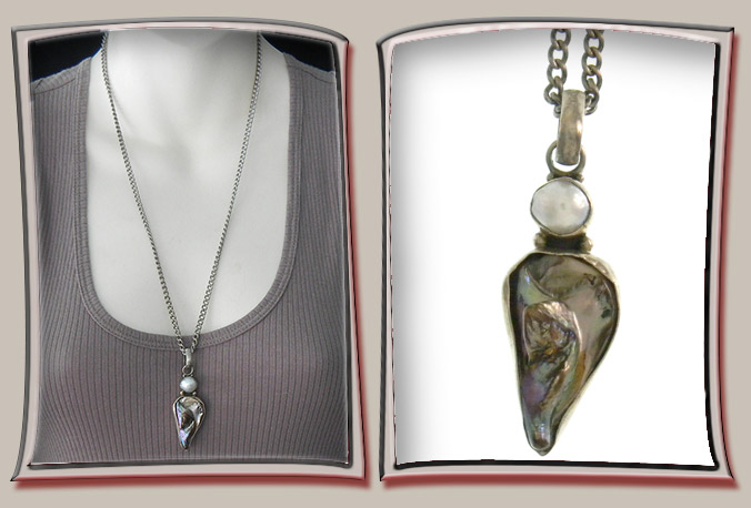 Mother-of-pearl Pendant with Pearl Inset