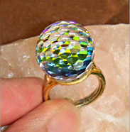 spherical ring flashes all colors of rainbow